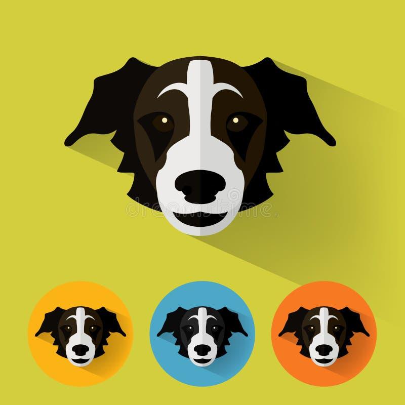 动物画象/狗 向量例证