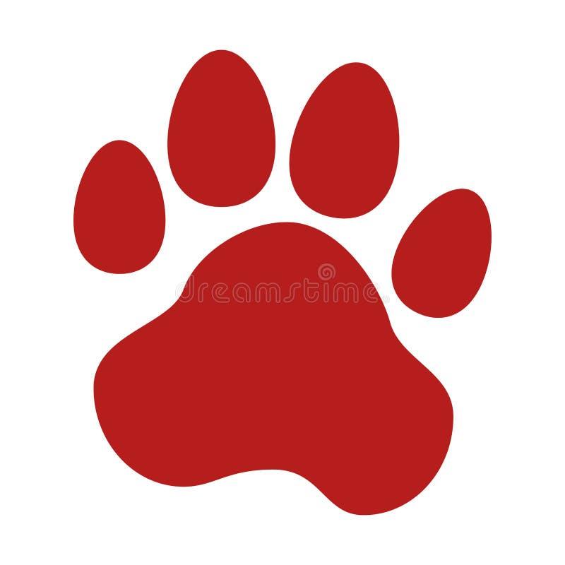 动物脚印刷品象 皇族释放例证