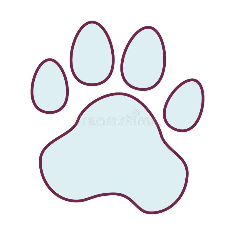 动物脚印刷品象 向量例证