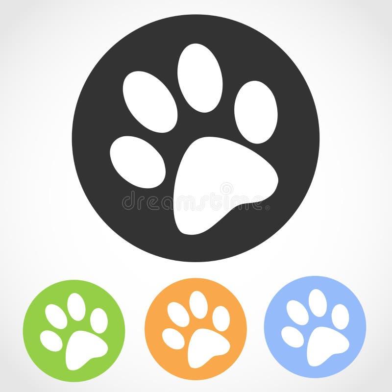 动物脚印象 也corel凹道例证向量图片