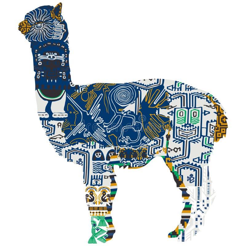 动物象征的秘鲁 库存例证