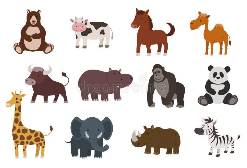 动物集 库存例证