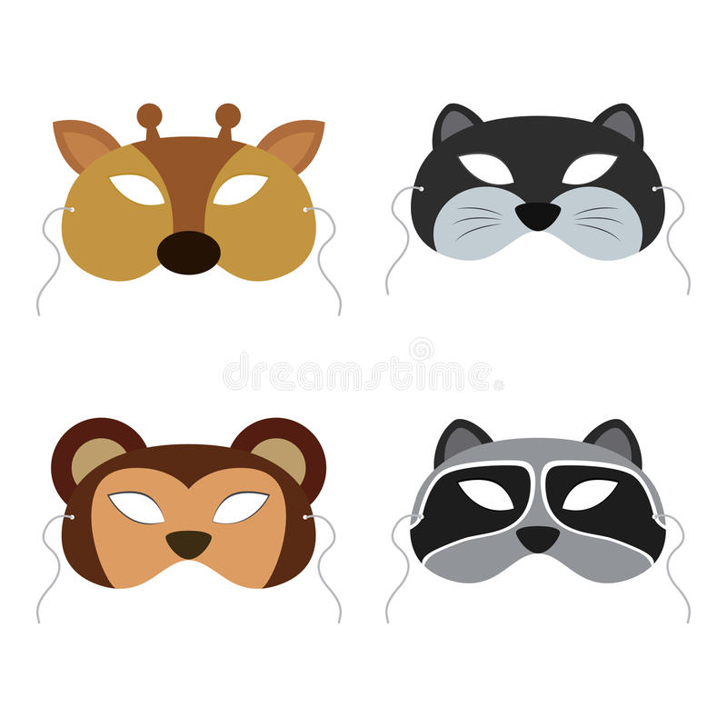 动物面具 免版税库存照片