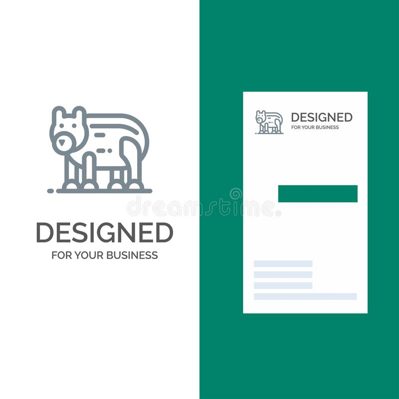 动物,熊,极性,加拿大灰色商标设计和名片模板 皇族释放例证
