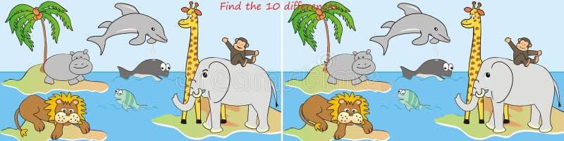 动物10区别 向量例证