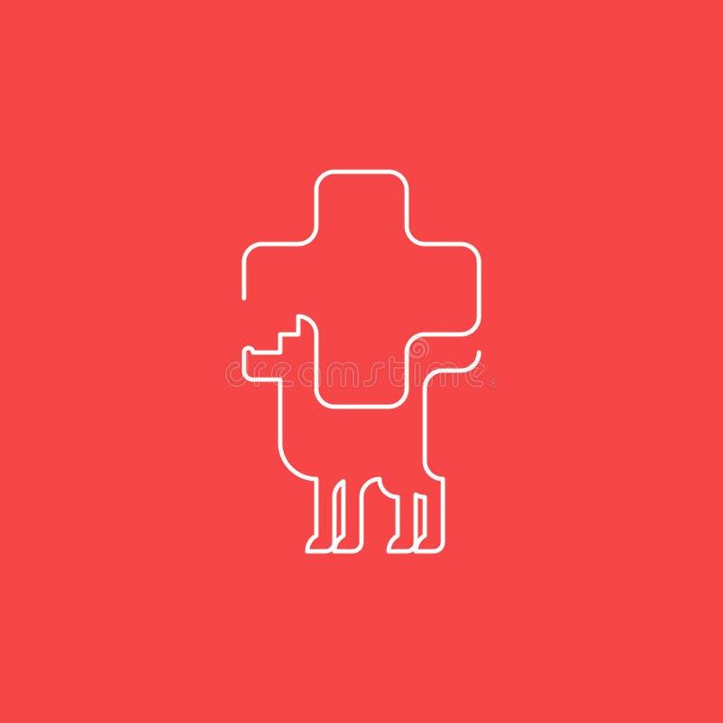 动物医疗保健,兽医概念 库存例证