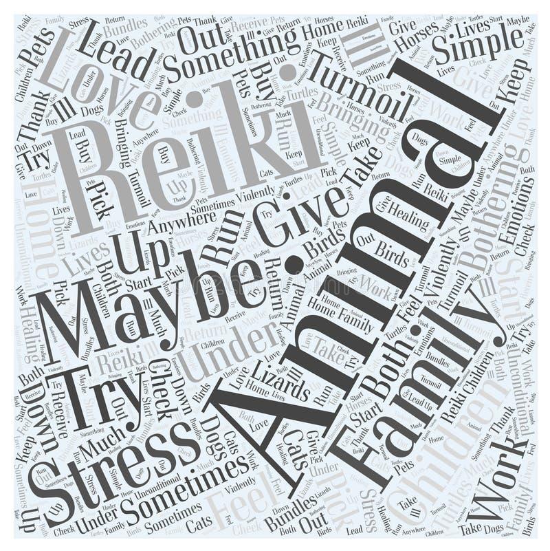 动物Reiki词云彩概念传染媒介背景 向量例证