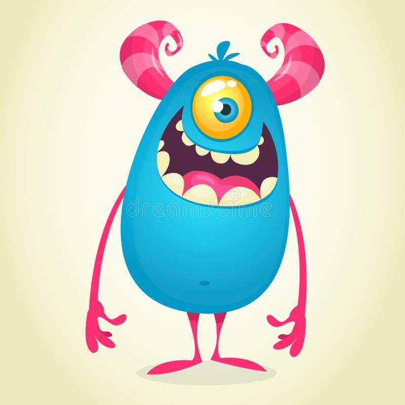 动画片一被注视的妖怪独眼巨人 库存例证