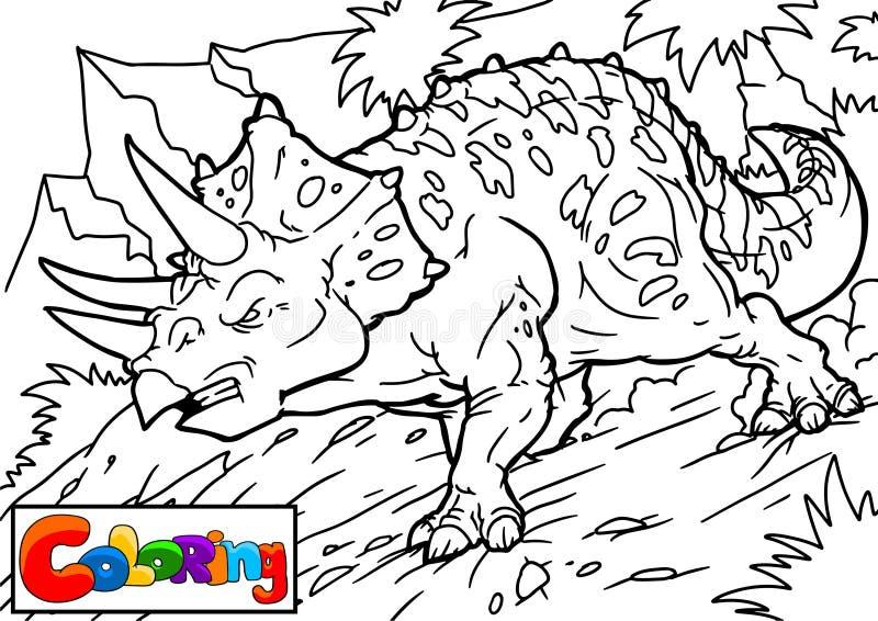 动画片三角恐龙的传染媒介例证彩图和教育的 皇族释放例证
