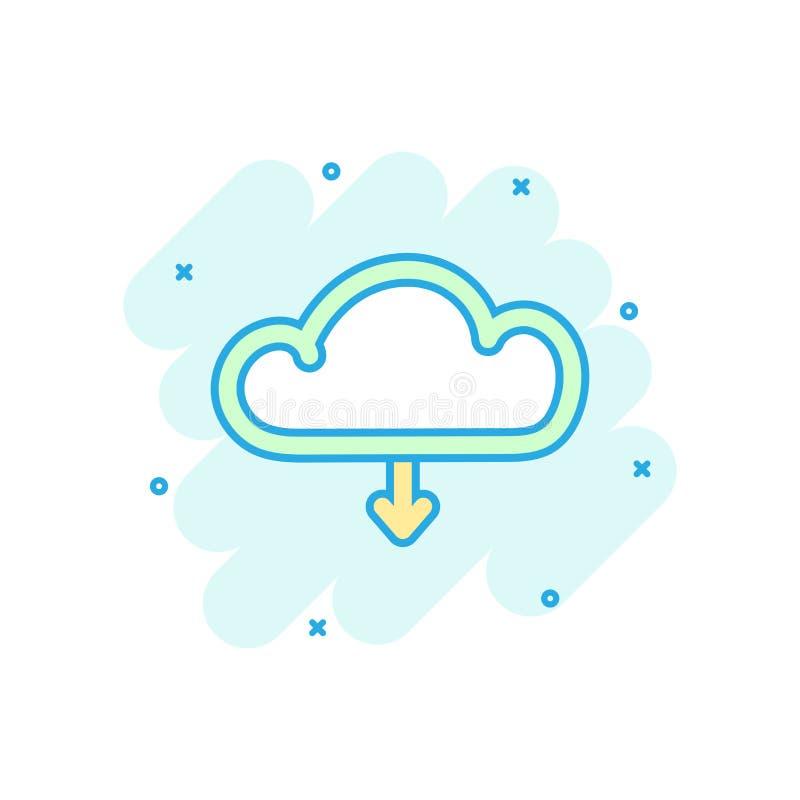 动画片上色了互联网在可笑的样式的云彩象 下载不适 皇族释放例证