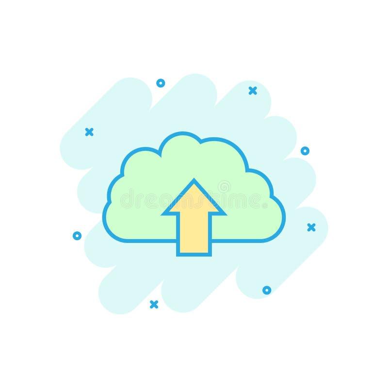 动画片上色了互联网在可笑的样式的云彩象 下载不适 库存例证