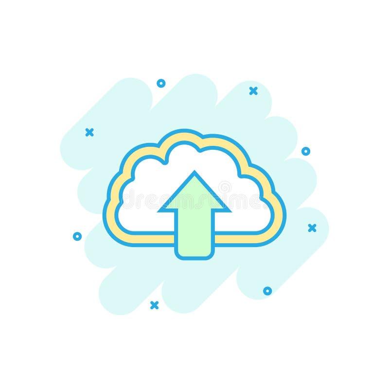 动画片上色了互联网在可笑的样式的云彩象 下载不适 向量例证