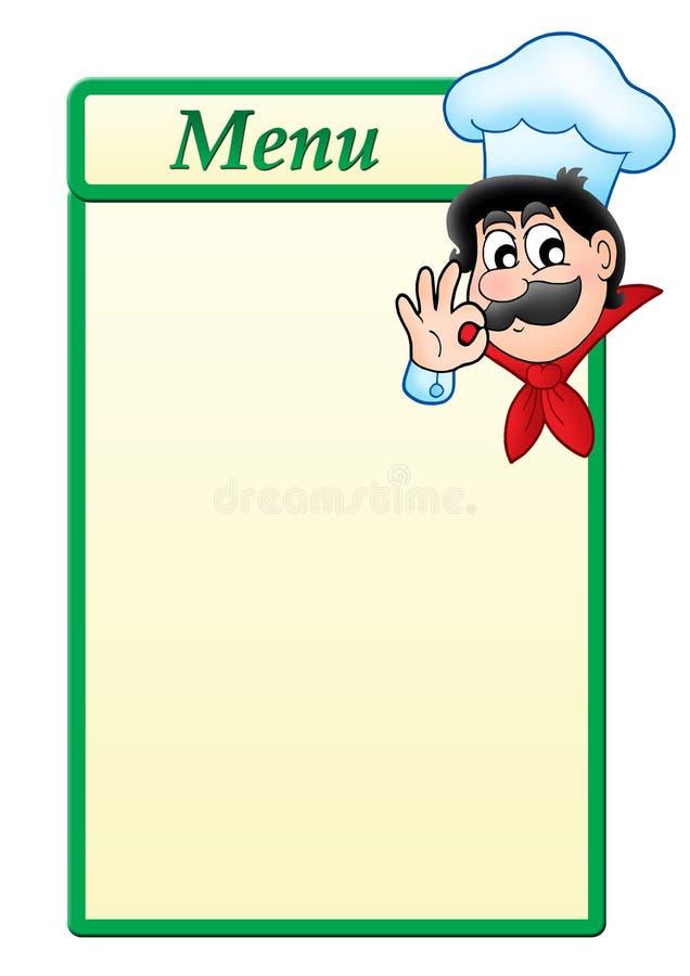 动画片主厨菜单模板 皇族释放例证