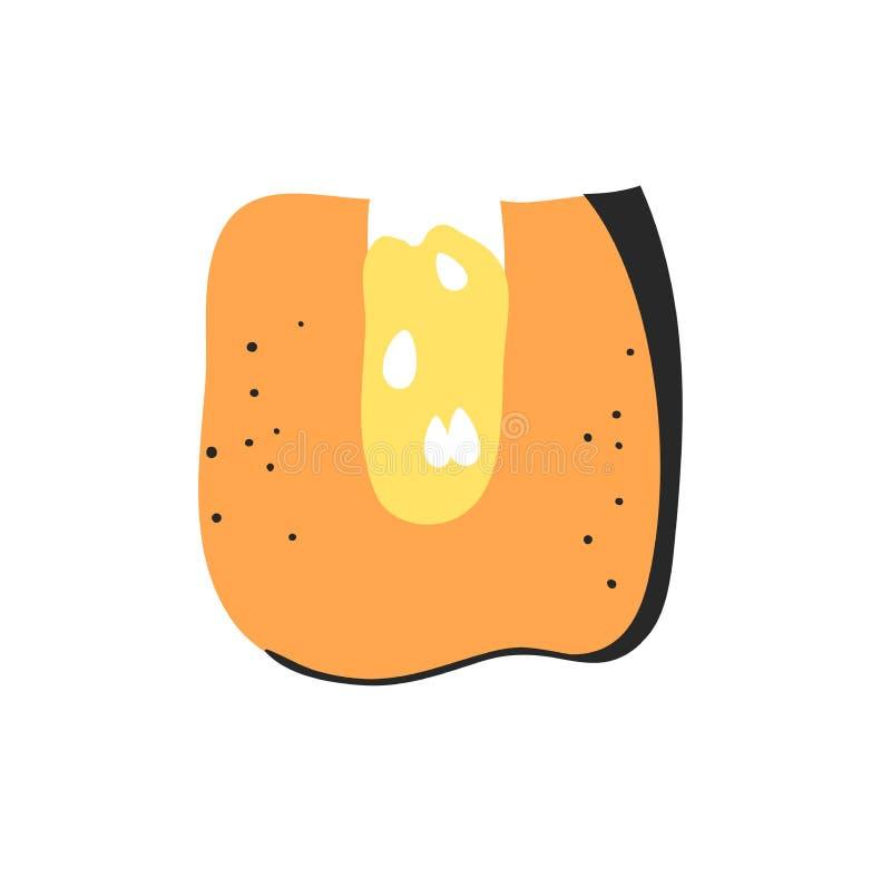 动画片传染媒介例证蔬菜和水果ABC 手拉的字体用素食主义者食物 实际创造性的艺术素食字母表 向量例证