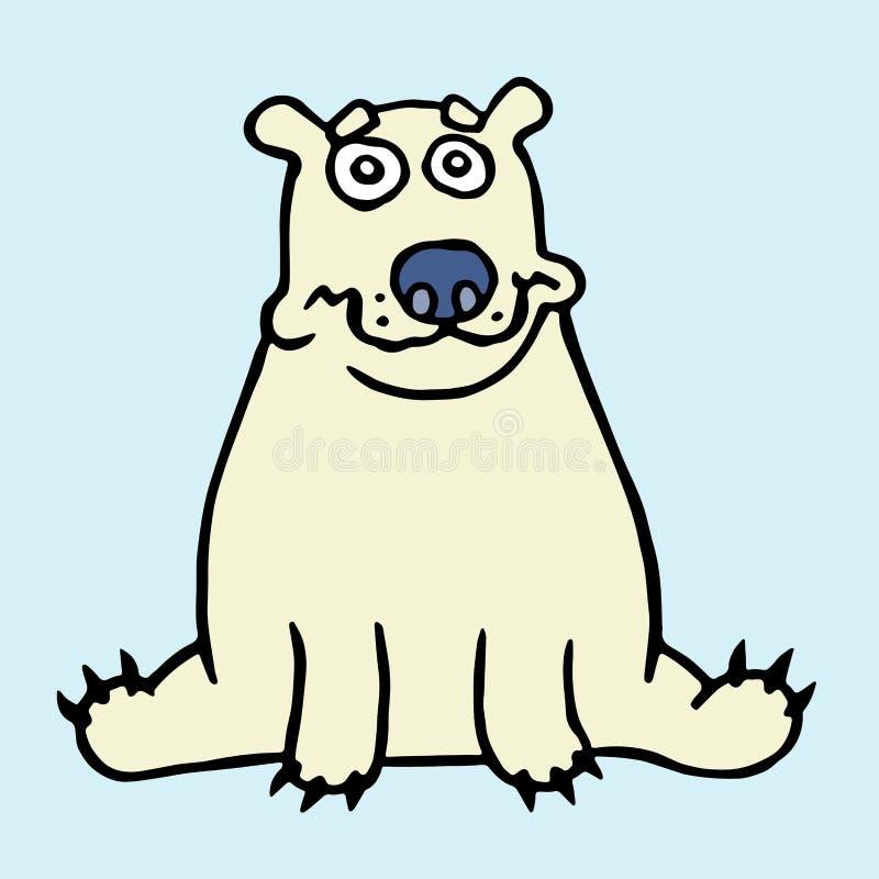 动画片偏僻的北极熊开会和看 也corel凹道例证向量 库存例证