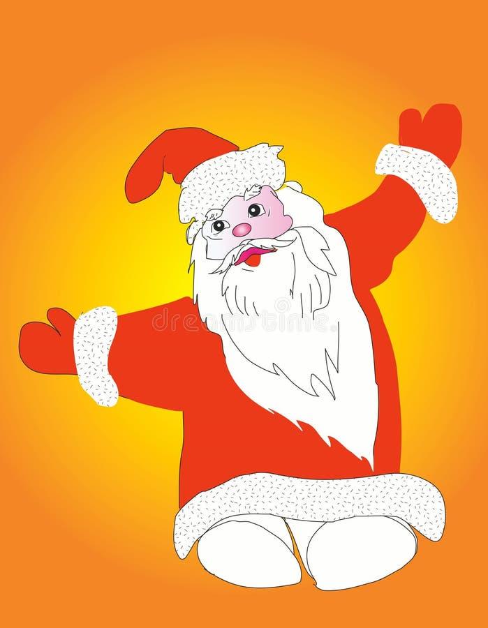 动画片克劳斯・圣诞老人 向量例证