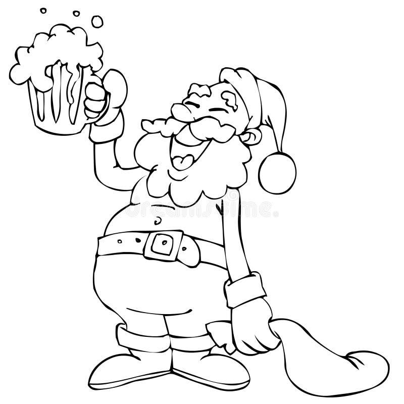 动画片克劳斯・圣诞老人 皇族释放例证