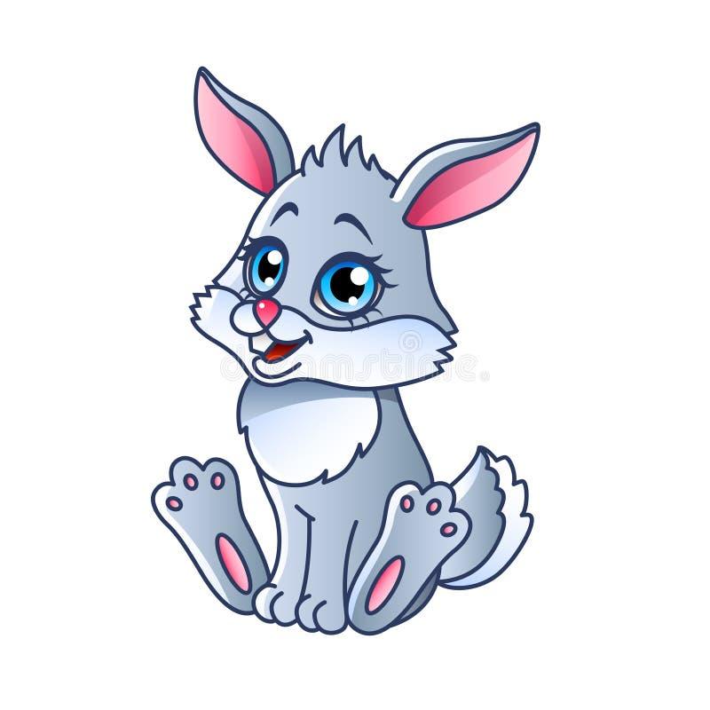 动画片兔子被隔绝的传染媒介例证 库存例证