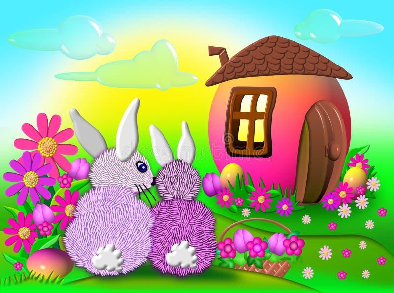 动画片兔子 库存例证