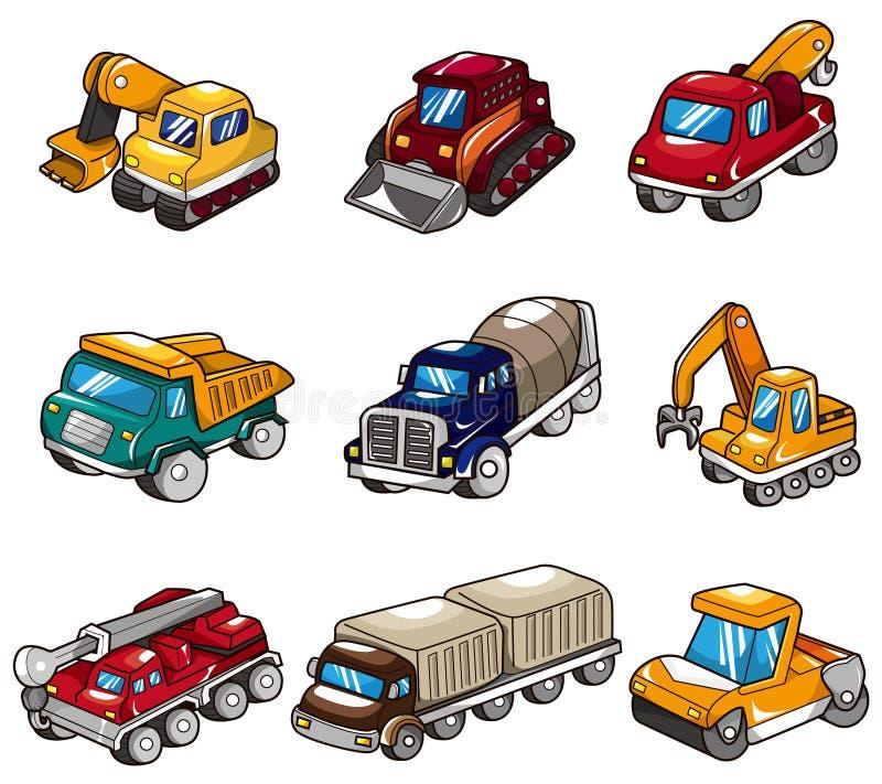 动画片图标卡车 皇族释放例证