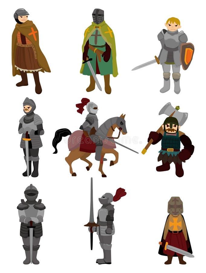 动画片图标骑士 皇族释放例证