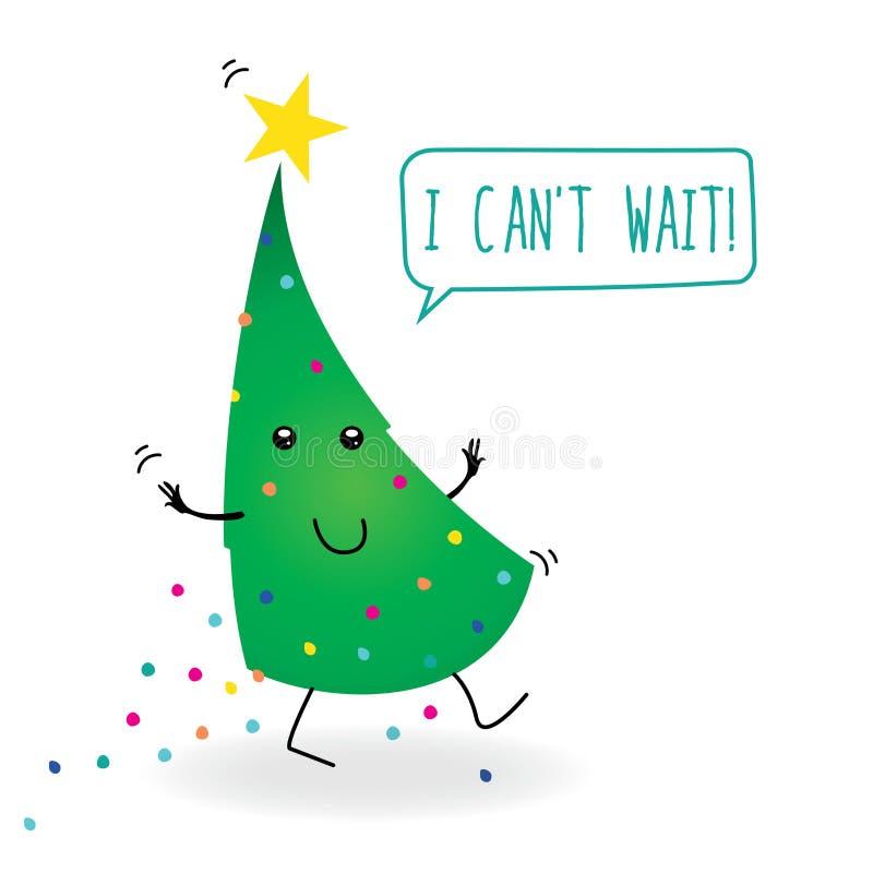 动画片圣诞树 皇族释放例证