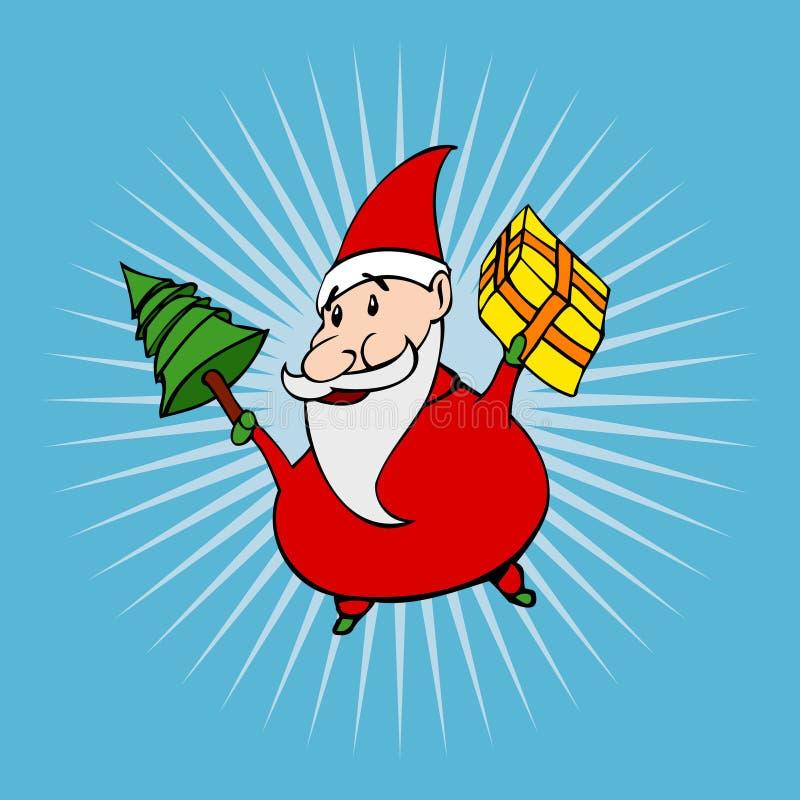 动画片圣诞老人样式 库存例证