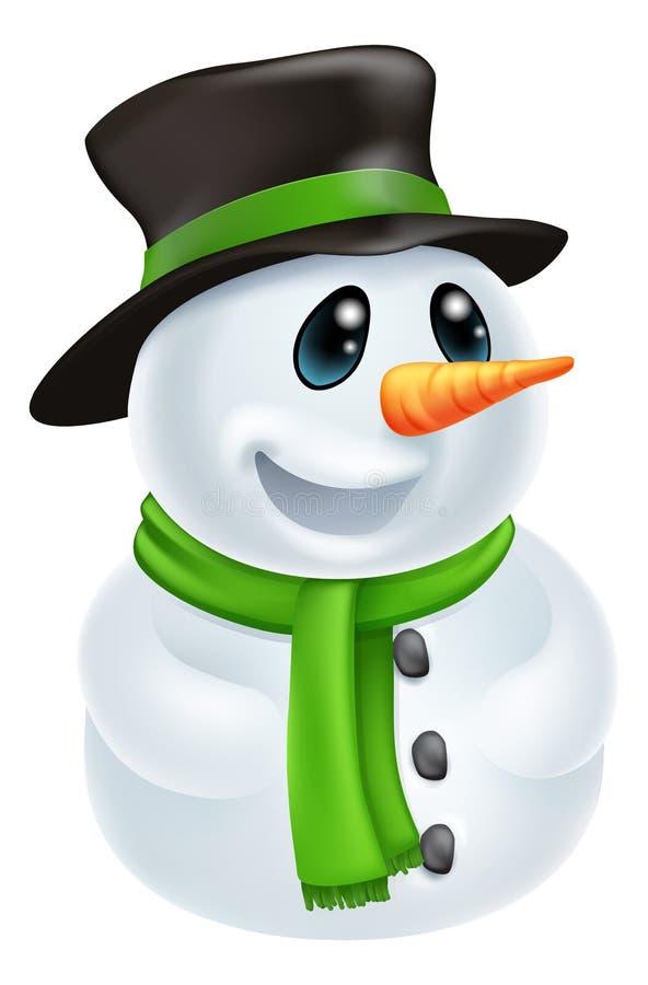 动画片圣诞节雪人 向量例证