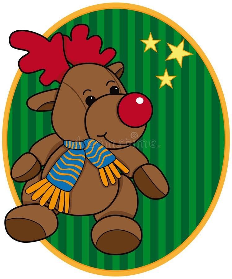 动画片圣诞节驯鹿 库存例证