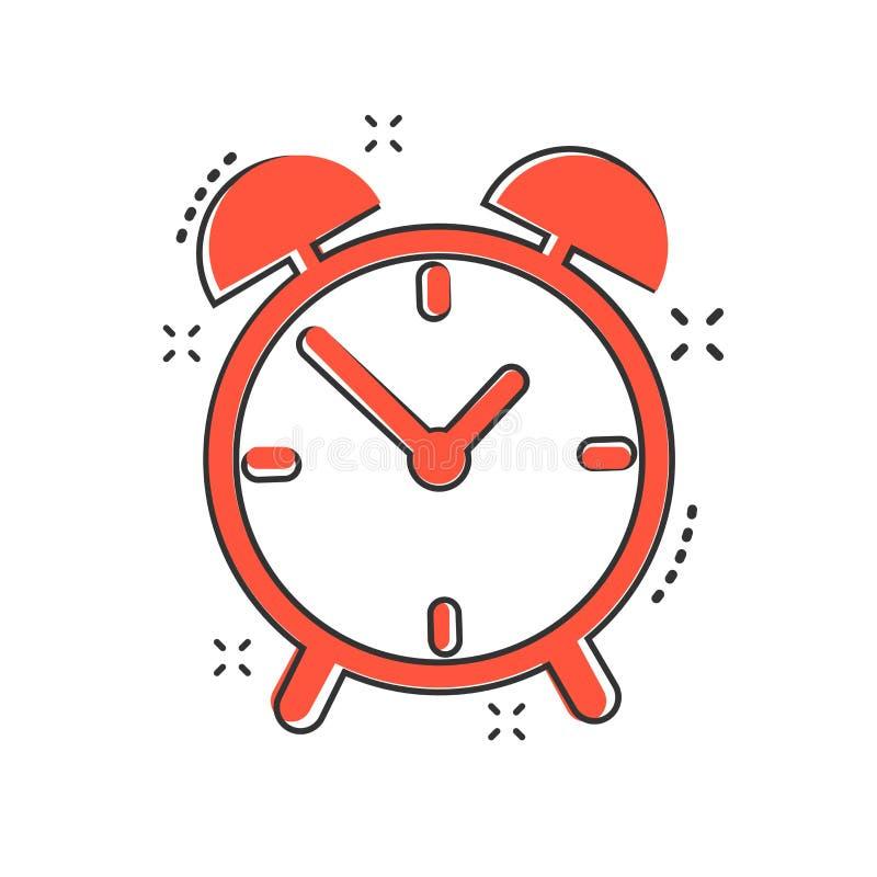 动画片在可笑的样式的闹钟象 定时器标志例证 库存例证