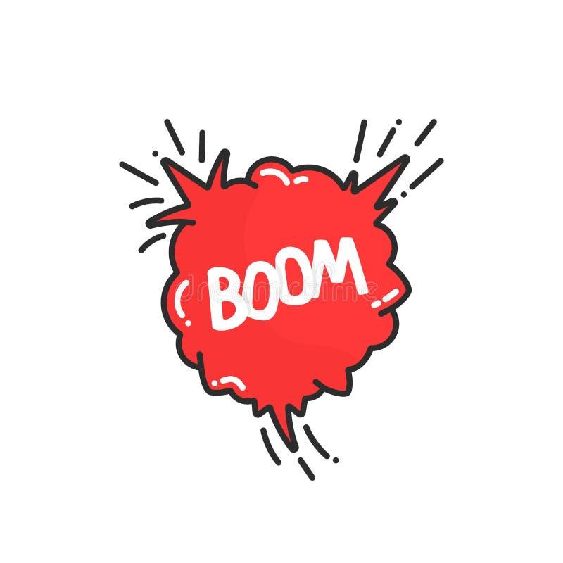 动画片在漫画书的爆炸景气 向量例证