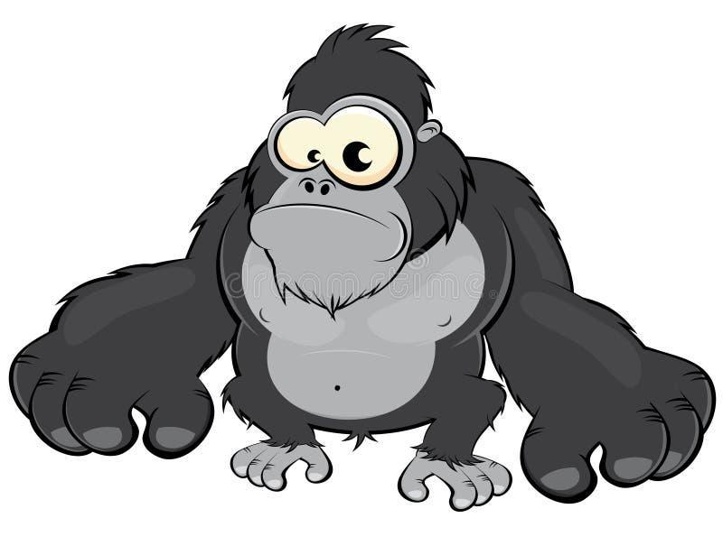 动画片大猩猩 向量例证
