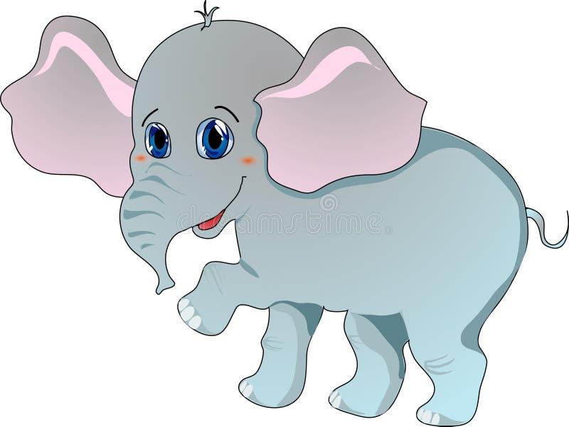 动画片大象 库存例证