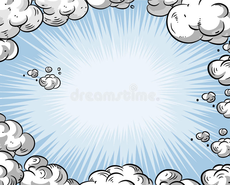 动画片天空 向量例证