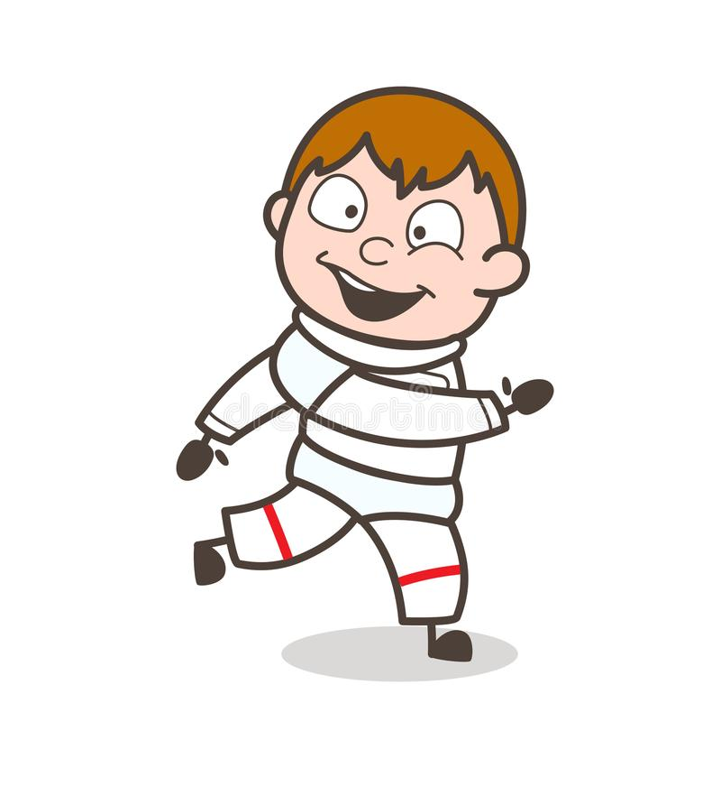 动画片太空人赛跑姿势传染媒介例证 向量例证