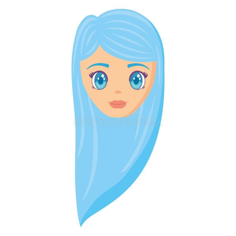动画片女孩设计 皇族释放例证