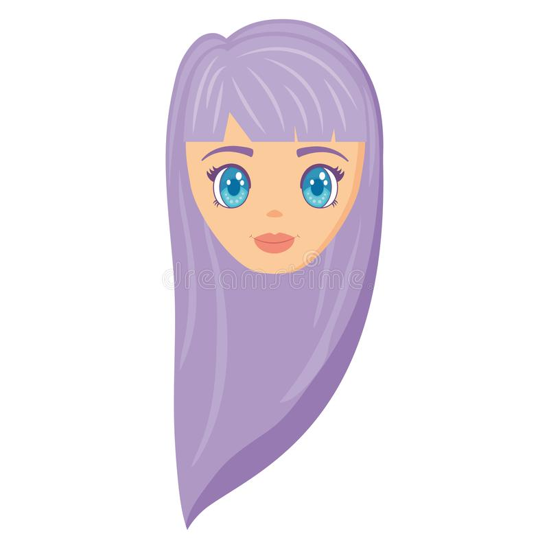 动画片女孩设计 库存例证