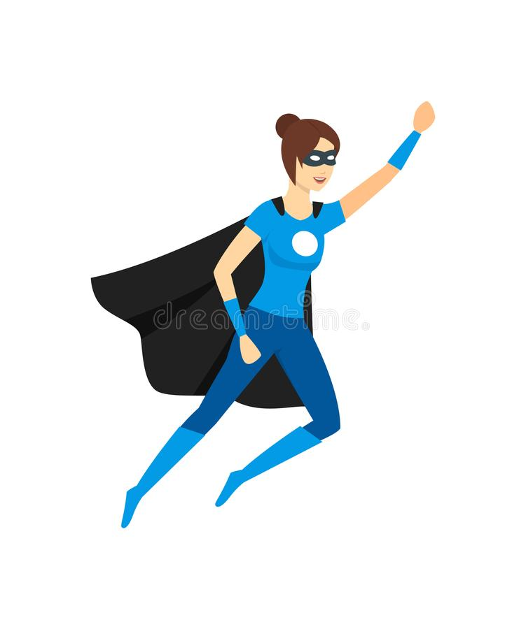 动画片女性超级英雄字符 向量 向量例证
