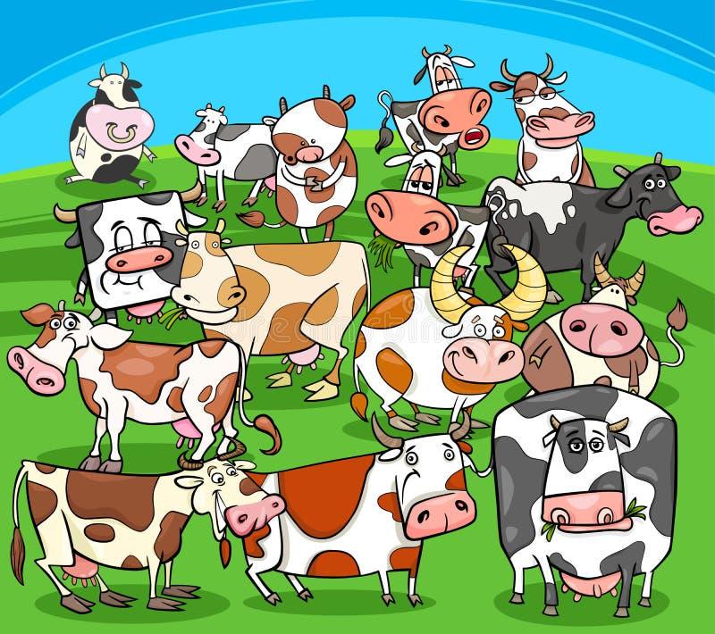 动画片威胁牲口小组 库存例证