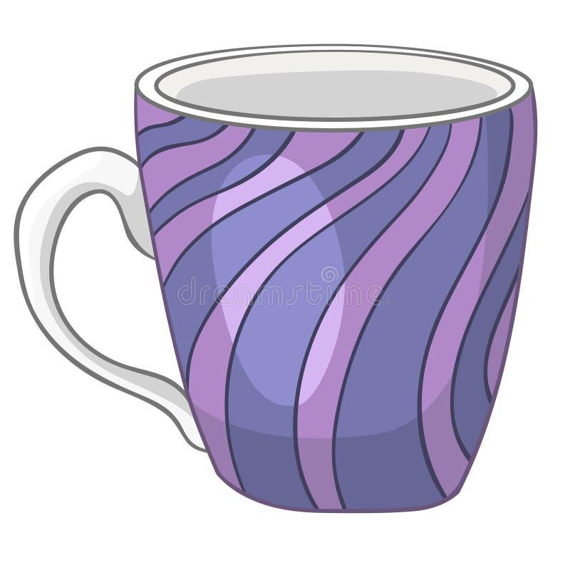 动画片家庭厨房杯子 库存例证