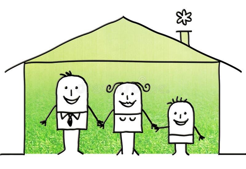 动画片家庭在家 库存例证