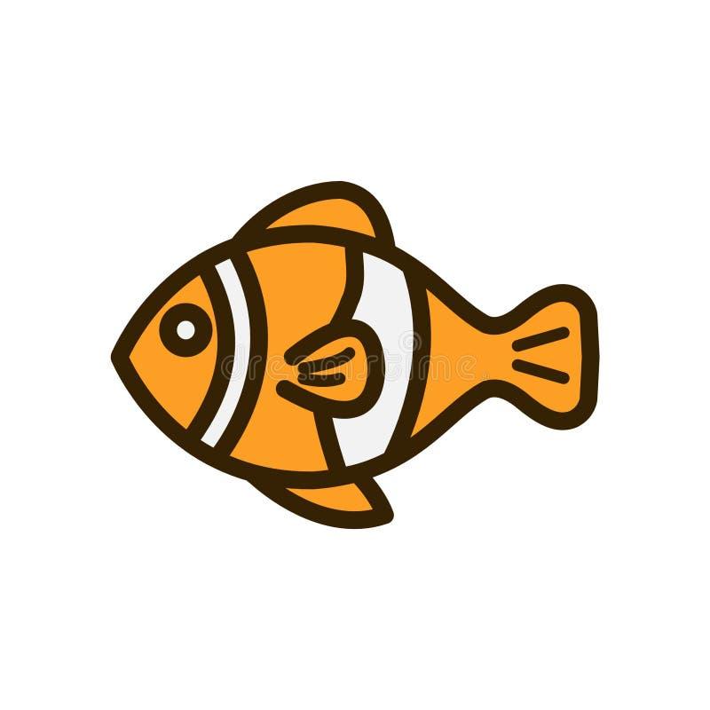 动画片小丑鱼第2个平的设计 免版税图库摄影