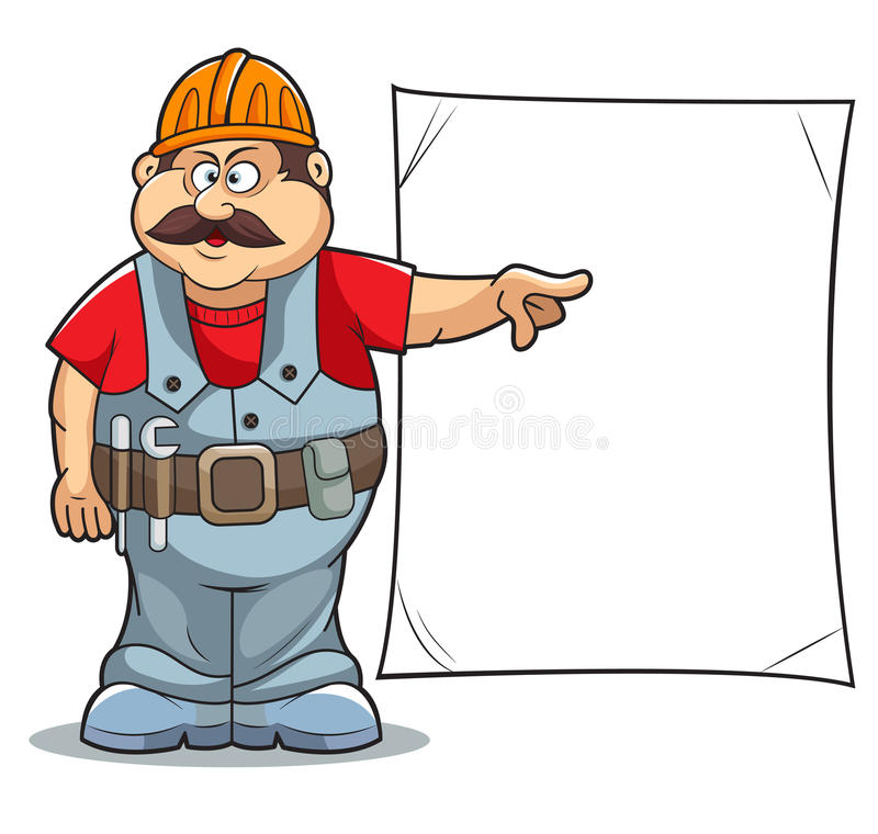 动画片建造者 向量例证