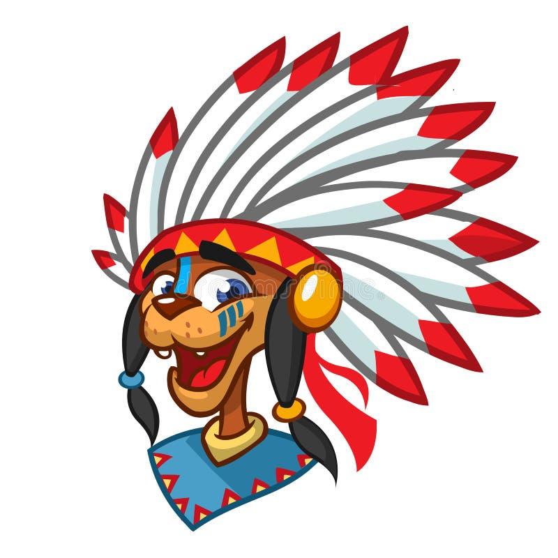 动画片当地美洲印第安人字符 例证clipart 库存例证