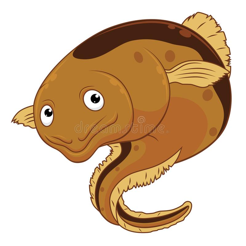 动画片快乐的鳗鱼 库存例证
