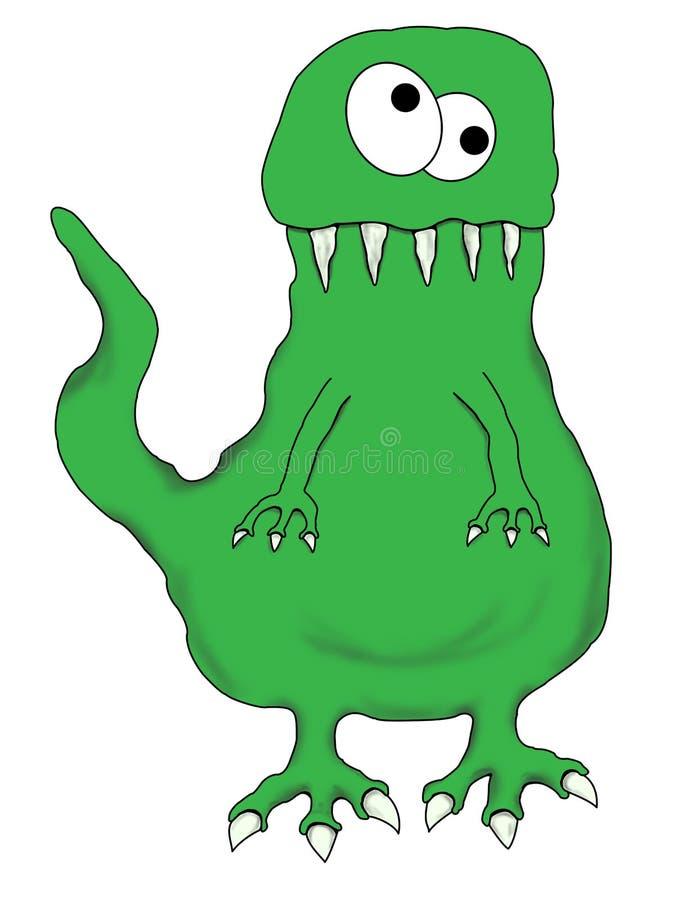 动画片恐龙滑稽的查出的蜥蜴 库存例证