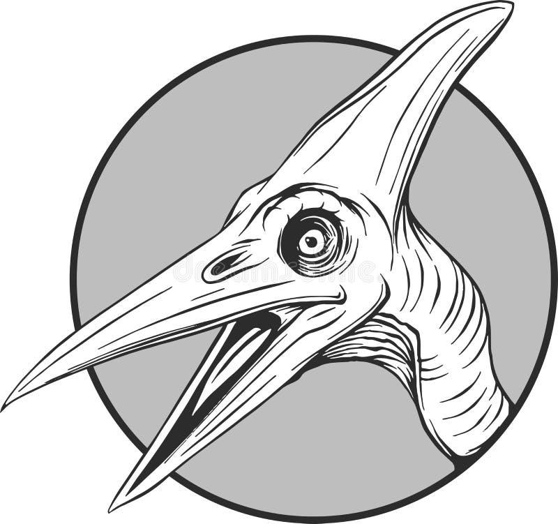 动画片恐龙的剪影在传染媒介illustartion的 皇族释放例证