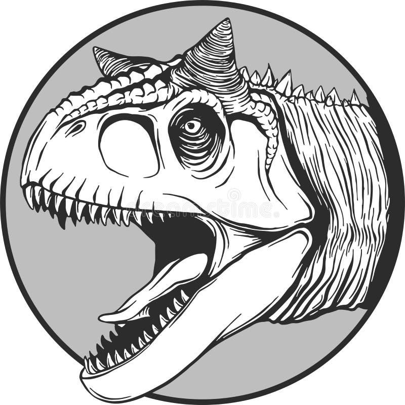 动画片恐龙的剪影在传染媒介illustartion的 向量例证