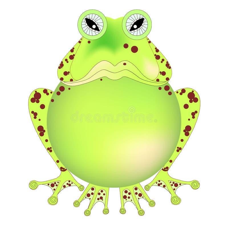 动画片手拉的恼怒的池蛙 库存例证