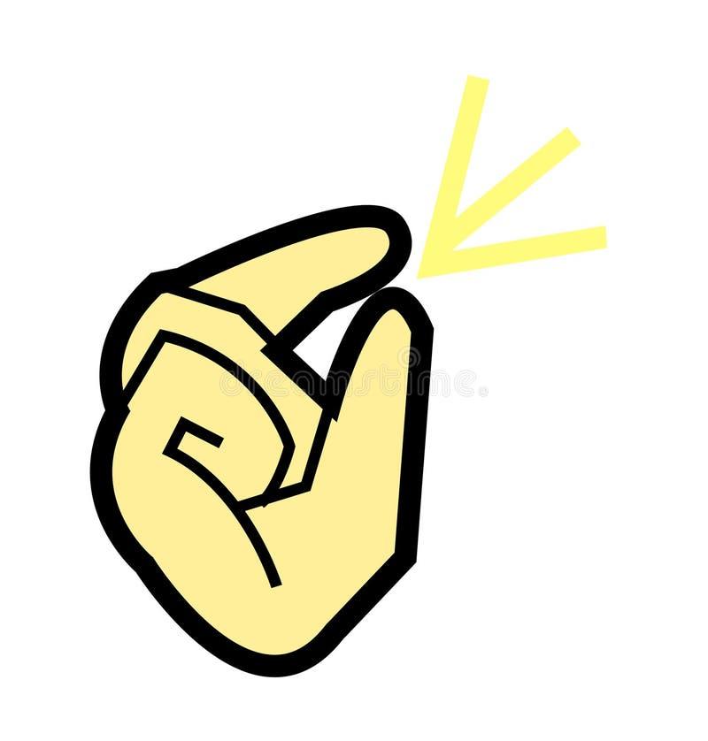 动画片手指攫取的传染媒介例证 库存例证